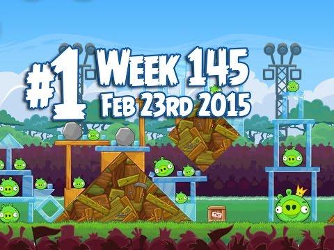 Angry Birds Friends Tournament Level 1 Week 145 Walkthrough | February 23rd 2015