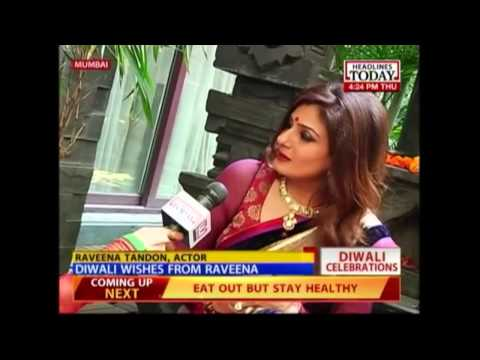 Celebrating the festival of lights with Raveena Tandon