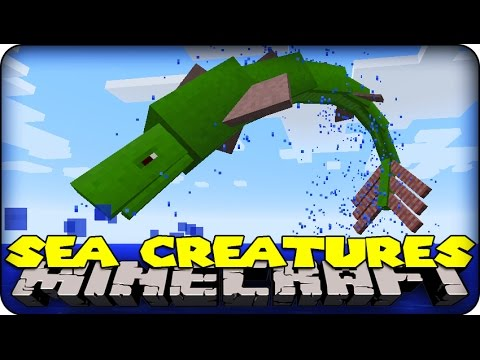 Minecraft Mods EPIC SEA MONSTERS Aquatic Abyss Mod Showcase