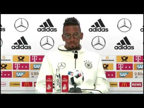 DFB Pressekonferenz: Jerome Boateng,  Shkodran Mustafi & Lukas Podolski  14/06/16