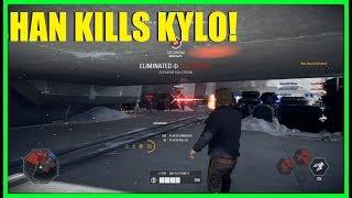 Star Wars Battlefront 2 - Han Solo killstreak time! | Han's DL44 does crazy headshot damage!