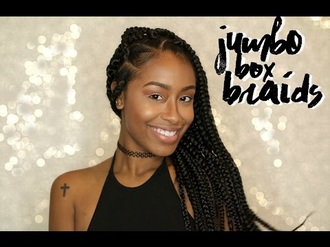 JUMBO Box Braid Tutorial x 6 ways to style