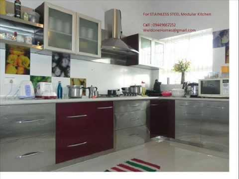 Stainless Steel Modular Kitchen Thrissur Kozhikode Call 09400490326 Youtube