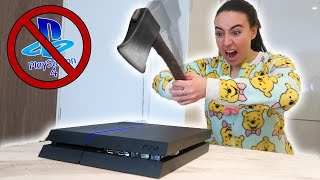ANGRY SISTER DESTROYS PS4!!  (PRANK GONE WRONG)