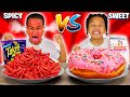 SWEET VS SPICY FOOD CHALLENGE 🌶�
