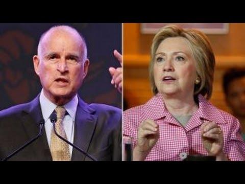 California Governor Jerry Brown endorses Clinton