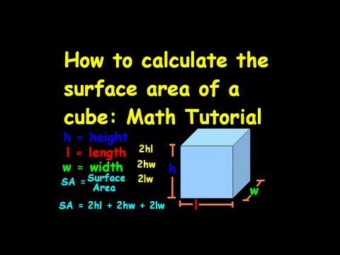 How To Calculate The Surface Area Of A Cube Math Tutorial