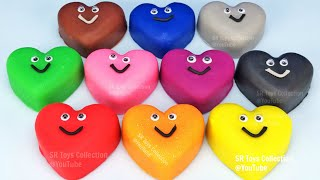 Play Doh Hearts and Cookie Cutters Molds | Learn Colors for Kids