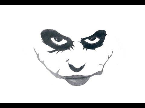 Как нарисовать Джокера / How to draw the Joker