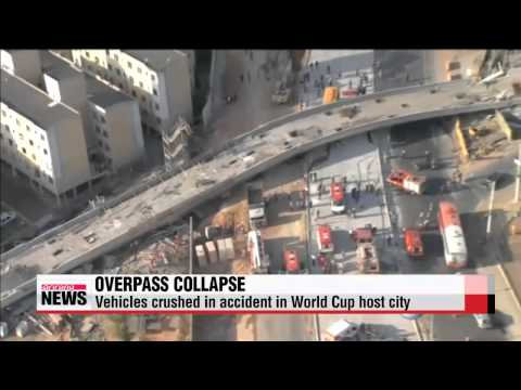Overpass in World Cup host city collapses