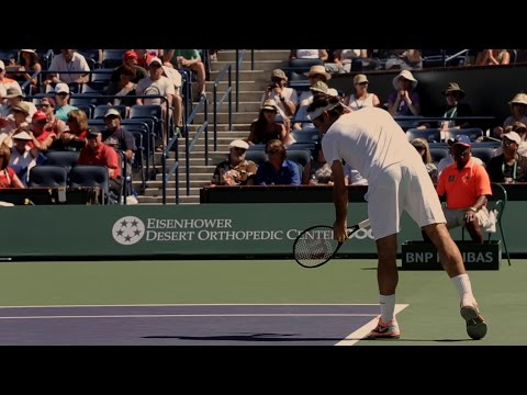 Federer, Wawrkinka, Djokovic at BNP Paribas Open Indian Wells 2014 HD