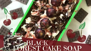 Making of Birthday Black Forest Cake Cold Process Soap | 🍰 GYPSYFAE CREATIONS