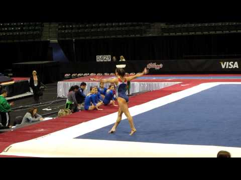 Jordyn Wieber - 2012 Kellogg's Pacific Rim Championships Podium Training - Floor Exercise