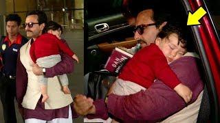 Taimur Ali Khan's CUTE Video Sleeping In Papa Saif's Arms At Airport Will Melt Ur Heart
