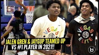 Jalen Green & Josh Christopher TEAMED UP & WANTED ALL THE SMOKE vs #1 Ranked Jonathan Kuminga!!