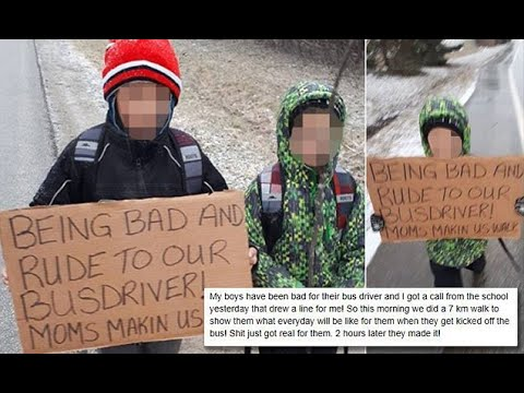 Mom makes sons walk 4 miles to school for disrespecting bus driver