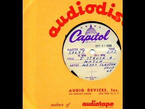 Merry Clayton - I STRUCK A MATCH  (David Gates)  (1963)