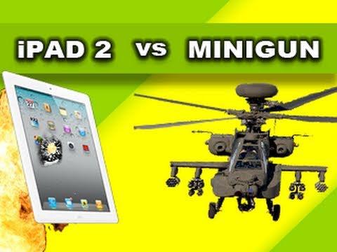 New iPad 2 vs Helicopter Minigun: Tech Assassin RatedRR