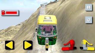 Tuk Tuk Auto Rickshaw Heavy Mountain Driving Game || Tuk Tuk Auto Rickshaw Game || Mountain Racing