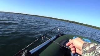 рыбалка видео ловля бортовыми удочками