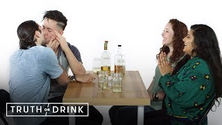 A Double Blind Date Plays Truth or Drink | Truth or Drink | Cut