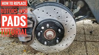 HOW TO CHANGE ACURA HONDA BRAKE PADS AND ROTORS QUICK AND EASY TUTORIAL