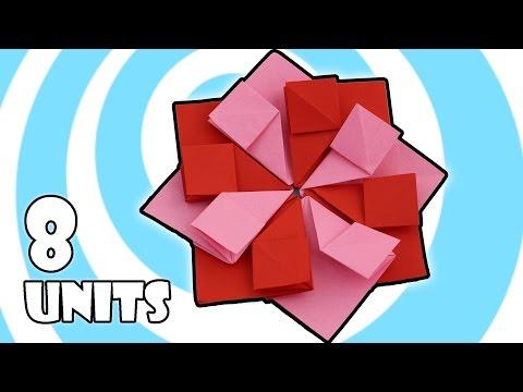 Modular Origami Tea Bag Flower Instructions (8 units)