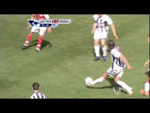 Kieran Gibbs' tackle vs West Brom