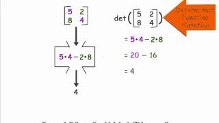 Determinanat of a 2X2 Matrix