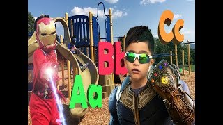 AVENGERS and Thanos , Learning ABC Letter Alphabets video for kids