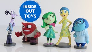 Disney Pixar Movie INSIDE OUT Toys - Figurine Playset with Sadness, Joy, Disgust, Fear and Anger!