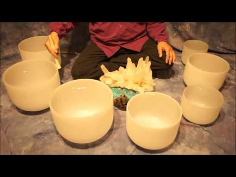Crystal Bowl Chakra (70 Min.) Meditation C to B ~ Low to High Tones