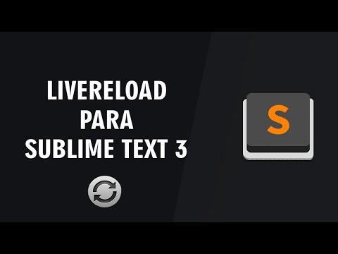 Extensión LiveReload para Sublime Text 3 | 2017