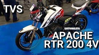 Motocicleta APACHE RTR 200 de TVS 4V .de 0 a 60 Kms en 3.9 segs.