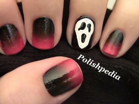 Scream Halloween Nail Art