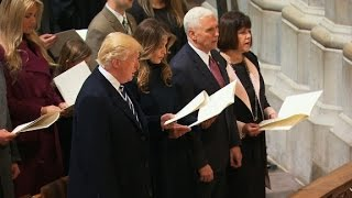 Trump attends national prayer service