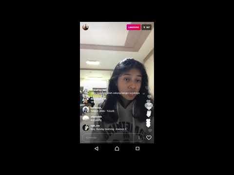 SAAT DI KORSEL SUARA KEREN Rahmania astrini   one last time  cover  Ariana Grande    live instagram