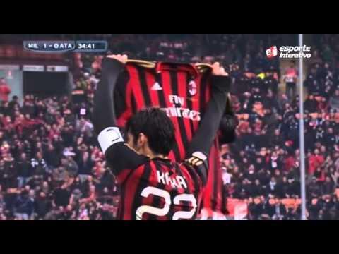 Kaká marca centésimo gol pelo Milan
