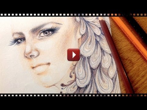Fashion Portrait Drawing Speed Drawing Fashion