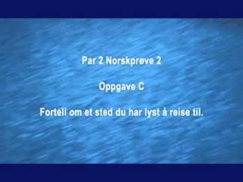 eksempeler norsk prøve a1 a2