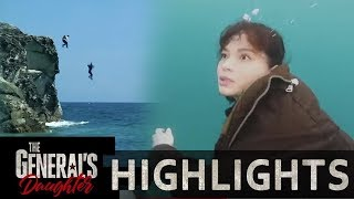 Rhian and Franco jump off a cliff | The General's Daughter