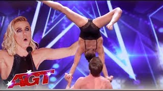Julianne Hough Drools Over This SEXY Couple Acrobatic Act | America's Got Talent 2019