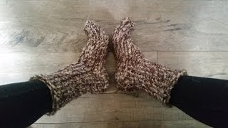 How to knit east big chunky socks on a Loom, 1 hr project
