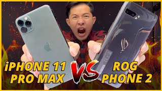 SPEEDTEST iPHONE 11 PRO MAX vs R.O.G PHONE 2: SNAPDRAGON 855+ QUÁ MẠNH...