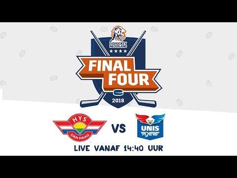 Livestream IJshockey Finale Final 4 HYS Den Haag - Unis Flyers 25 februari 2018
