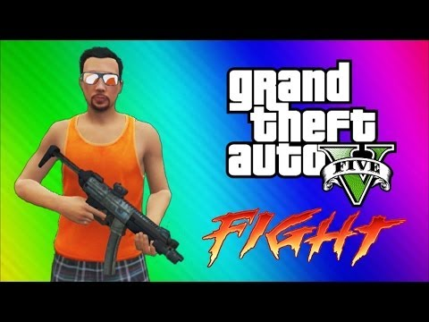 GTA 5 Online Funny Moments Gameplay - Epic Fight, Invisible Arms, Golfing, Car Glitch, Sky Diving