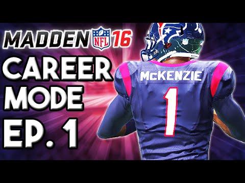 Madden 16 Career Mode Ep.1 - QB Andy McKenzie Begins His NFL Journey (Full Preseason)