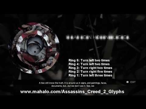 Assassins Creed 2 Walkthrough - Glyph Puzzle #20 HD