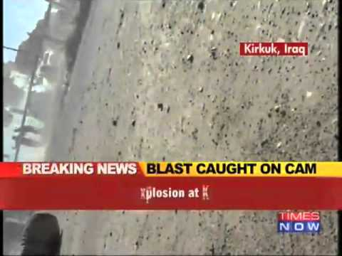 Iraq car bomb blast caught on camera.
