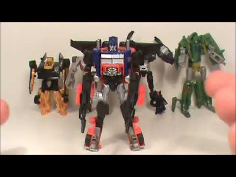 TRANSFORMERS 3 DOTM CYBERVERSE ULTIMATE 5 PIECE GIFT SET ACTION FIGURE TOY REVIEW